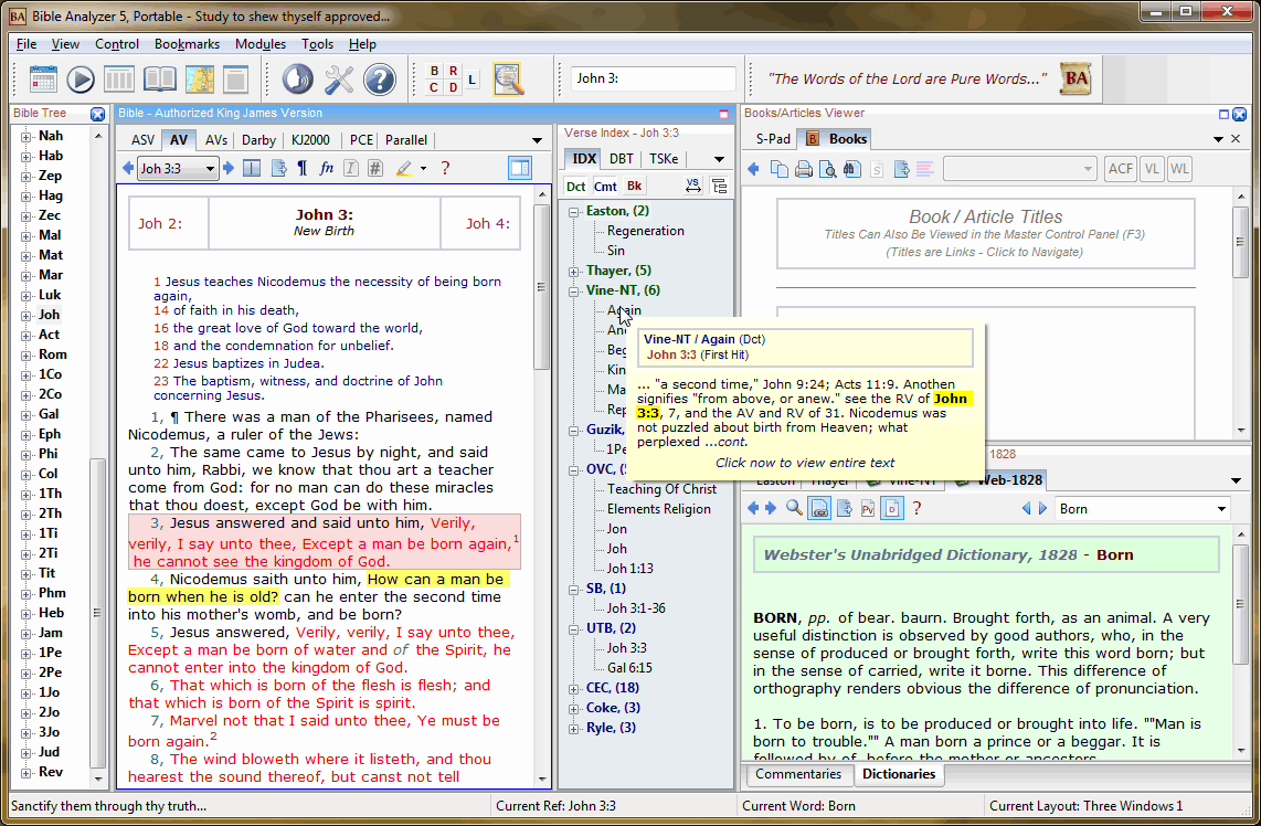 Bible Analyzer Bible Software - Free Premium Bible Software For